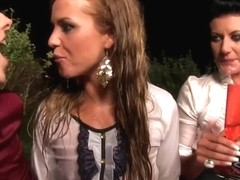 Pissdrinking glamour euro babes cumswapping
