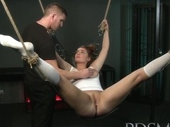 Beautiful sub does not know when to shut up and pays the price from dominant Master
