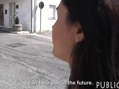 Huge boobs Latina girl drilled in public for some money