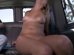 Arousing tits playing with hot chick