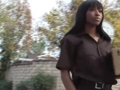 Black babe plowed by horny lover