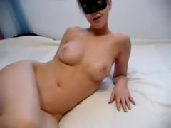 Hot blonde in masturbation porn
