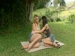 Petite asian girl gets screwed by horny ample girl tranny
