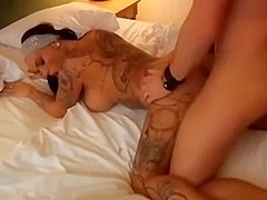 Hot tattooed german girl gets fucked