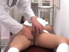 Asian gyno video with pussy examined by the gynecologist