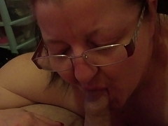The slutty office secretary Blowing the boss before work