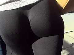 Leggings Show Off Her Lovely Ass