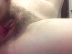 Hot college girl fucking herself dp with hairbrush in pussy and ass