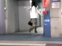Garage sharking video of extremely sexy slender Asian whore