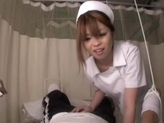 Nurse with fine arse does blowjob in asian voyeur movie