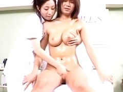 Hidden webcam in massage parlor shooting two Asian dolls