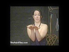 Lyarahs intense lezdom bdsm and cruel amateur spanking of canadian submissive in facial hot waxing.