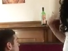 British chav Stacey fucked in pub