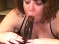 big beautiful woman wife taking BBC into her mouth