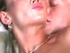 Stephanie is a sexy golden-haired who receives anal drilled and spermed on