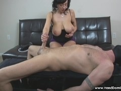 amazon mother I'd like to fuck with massive natural zeppelins gives femdom tugjob