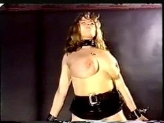 Hairy babe in a vintage flogging movie