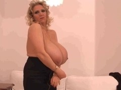 Girl with giant tits
