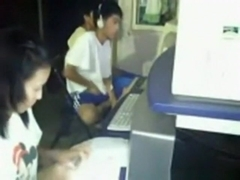 Crazy asian guy masturbates in a cybercafг©. like a boss !!!