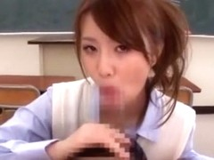 Hottest Japanese model Riri Yuzuna in Amazing College/Gakuseifuku, Fingering JAV scene