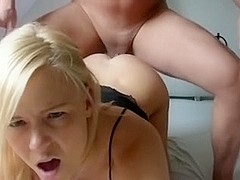 Golden-Haired Non-Professional Anal