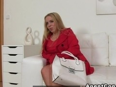 Busty fat amateur bangs on casting chubby euro