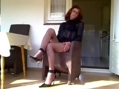Just a mature crossdresser feeling lonely and bored on web camera