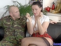 Stockings milf bound and gagged during anal