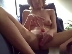 I am an amateur blonde slut, who likes shoving sex toys in her beaver. This time, I'm putting bead.