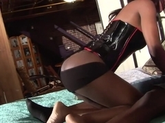 Exotic pornstar Lady Armani in horny black and ebony, anal adult clip