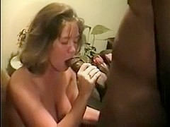 Wife Gloria enjoying BBC 1 - Making the cock hard