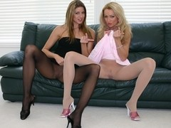 Teasing Chick Combo On Pantyhose