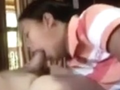 Thai college girl whore sucks and fucks oldcock