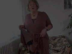 OldNanny Old obese mamma is playing with legal age teenager and vibrator schlong sex