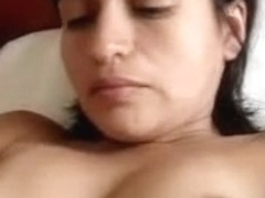 Young babe masturbating her very hairy love tunnel