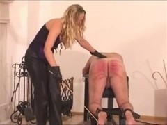Perverted domina gives her thrall a heavy torture