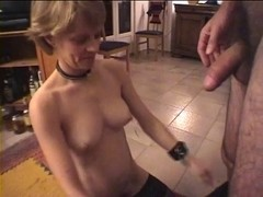 Non-Professional Older Eats Cum From Glass two