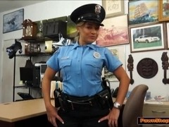 This Latina police woman has got both tits and ass