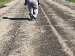 Bbw milf big booty jiggling in sweats 4