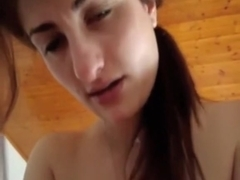 Black Brown wife sucking and riding dick