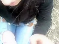 Just a excited Azeri angel sucking my strapon for cash on web camera