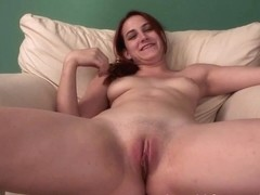 SpringBreakLife Video: Cute Redhead Fingers Herself On Couch
