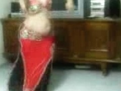 Mature curvy woman belly-dancing in this hot show porn