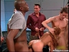 Breasty golden-haired bitch goes desirous getting