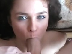 Petite Brunette Gives Head POV