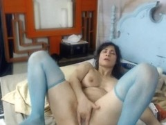 Brunette MILF Gets Her Pussy Wrecked By Her Massive Dildo