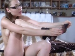 LacyNylons Video: Katharine B