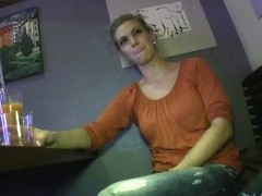 Pretty blonde was questioned about foreplay and oral sex