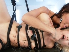 Gia DiMarco & Ash Hollywood in Ash Hollywood Electrofucked - Electrosluts