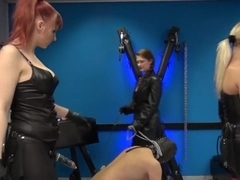 3 dommes 2 slaves & a rubberdoll